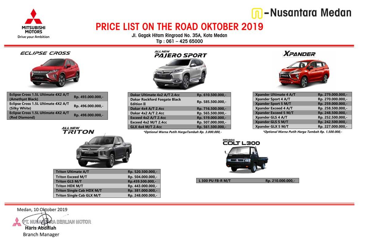 Harga Mitsubishi Medan